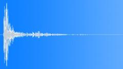 Wood Impact + Metal - Short, Metal Sheet Tail 02 Sound Effect