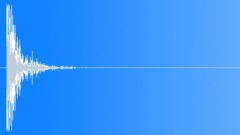 Wood Impact Hard - Short, Muffled - sound effect