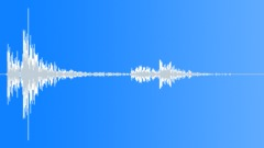 Wood Impact Soft - Short, Slight Wobbly Tail Sound Effect