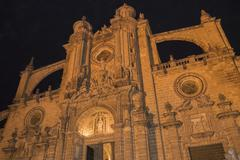 Jerez de la Frontera Cathedral at night Stock Photos