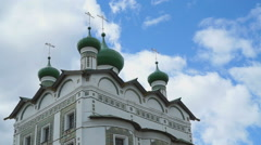 Domes with crosses of the Orthodox monastery Stock Footage