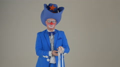 Clown coloring Stock Footage