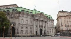 Banco de La Nacion, Buenos Aires, Argentina. National Bank building. Stock Footage