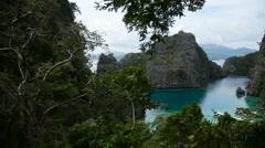 Beautyful lagoon in the islands, Philippines Stock Footage