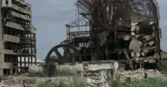 Demolished Hershey factory in cuba (Sugar central) - stock footage