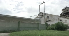 Exterior Demolished Hershey factory in cuba (Sugar central) Stock Footage