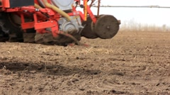 Details seeding machines Stock Footage