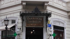 Old pharmacy, Buenos Aires, Argentina Stock Footage