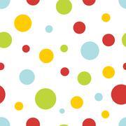 pastel circles seamless background - stock illustration