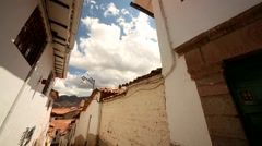 Peru: Small alley in Cusco Stock Footage