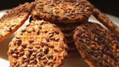 Tasty Cookies rotate 3 Stock Footage