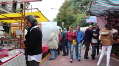 Feria de San Telmo, Buenos Aires, Argentina. Stock Footage