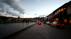 driving in the city of Cusco, Peru, South America - stock footage