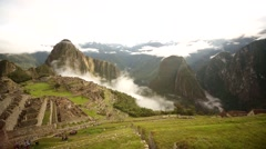 Machu Picchu: Typical view to the Inca city. Peru, South America Stock Footage