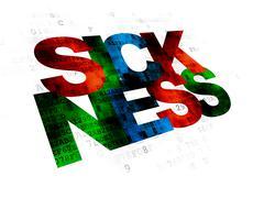Healthcare concept: Sickness on Digital background Stock Illustration