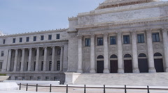 Pan to the Capitol Building of Puerto Rico Stock Footage