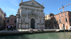 Views of the city from the Grand Canal, Venice Stock Footage
