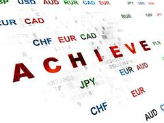 Business concept: Achieve on Digital background Stock Illustration