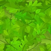 Summer Leaves Low Poly Stock Illustration