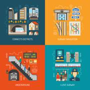 Underground 2x2 Images Concept - stock illustration