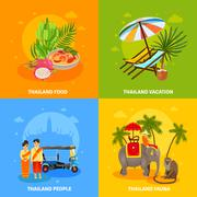 Thailand Concept Set - stock illustration