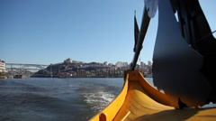 A view over Douro River. Oporto city. Stock Footage