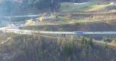 Flying over Austria, Salzburg Aerial View. Stock Footage