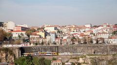 Portugal, Oporto Ribeira's view Stock Footage