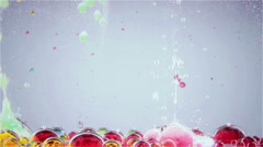 Bright and colorful multi-colored liquid in motion. Lava lamp Stock Footage
