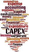 Stock Illustration of CAPEX word cloud