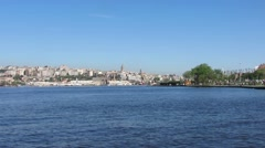 Turkey istanbul halic river Stock Footage