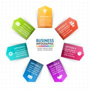 Vector circle arrows infographic, diagram, graph, presentation, chart. Business Piirros