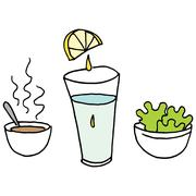 Small portions lunch Stock Illustration