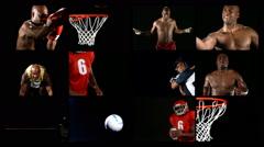 Sports Dark Montage - stock footage