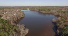 Bond Park Lake Aerial - stock footage