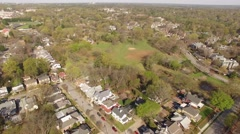 Fred Fletcher Park in Raleigh, NC Aerial Stock Footage