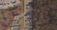 Bird's eye view of High House Road in Cary, NC. Stock Footage