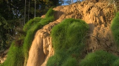Hot springs calcite deposit, early morning light Stock Footage