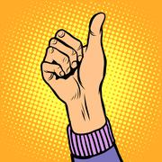 Thumb up gesture like - stock illustration
