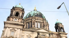 Berlin Timelapse - City Hyperlapse - Cathedral Berliner Dom Motion Time Lapse 2 Stock Footage