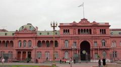 La Casa Rosada, Buenos Aires, Argentina. Plaza de Mayo, Argentine. Stock Footage