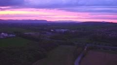 Purple sky, before dawn Stock Footage