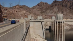 Hover dam near las vegas in desert Stock Footage