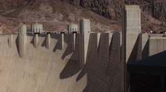 Hover Dam near las vegas in the desert Stock Footage