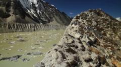 Glacial Lake of Imja Tsho - stock footage
