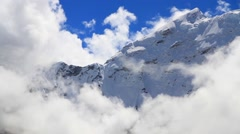View of Glacial Lake and snowcapped mountain at Imja Glacier - stock footage