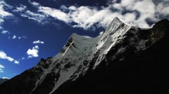 Time lapse of beautiful snowcapped mountain, Imja Glacier, Nepal Stock Footage