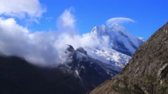 View of snowcapped mountain, Peru Stock Footage