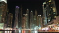 Dubai Marina night time lapse, United Arab Emirates HD Footage