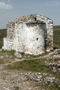 Medieval stone chapel exterior - stock photo